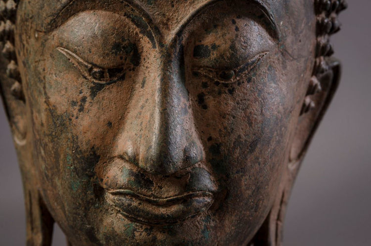 Picture of Buddha Head with Ushnisha