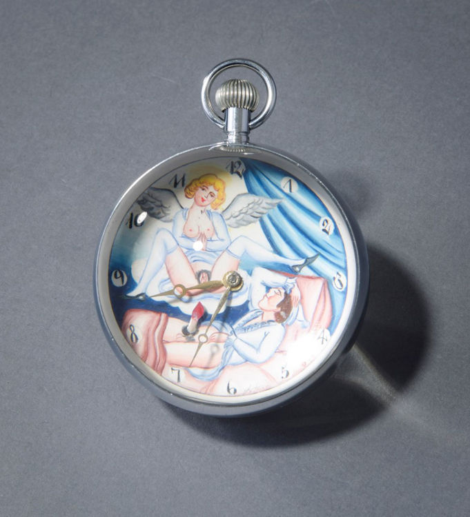 Picture of Angel Visiting Sleeping Man Ball Clock