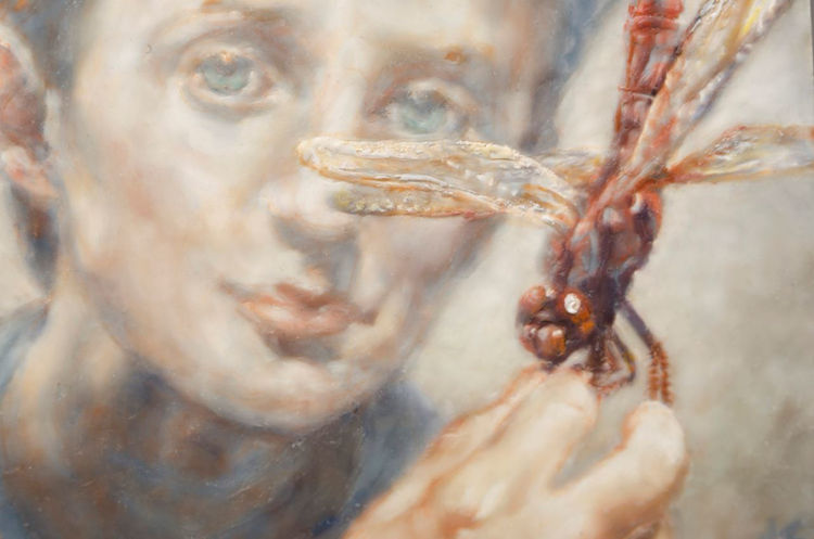 Picture of Boy with Dragonfly
