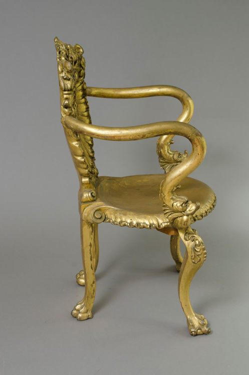 Picture of Armchair with Gilt Wood