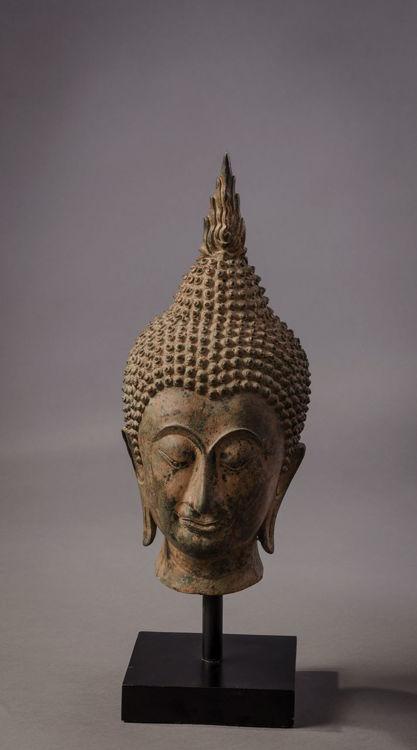 Picture of Buddha Head with Ushnisha