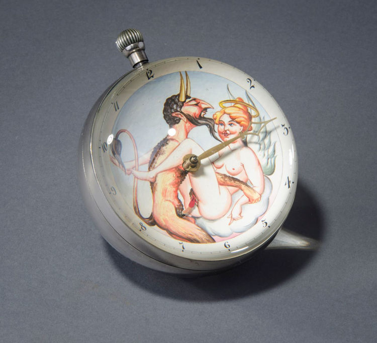 Picture of Devil and Angel Ball Clock