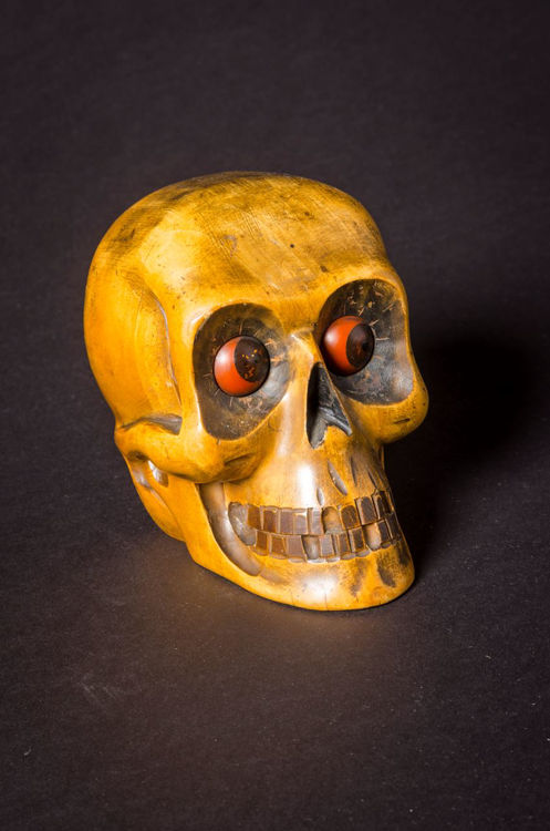 Picture of Skull Rolling Eye Clock