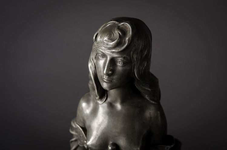 Picture of Art Nouveau Pewter Figural Centerpiece