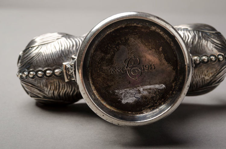 Picture of Figural 800 Silver Double Salt Cellar