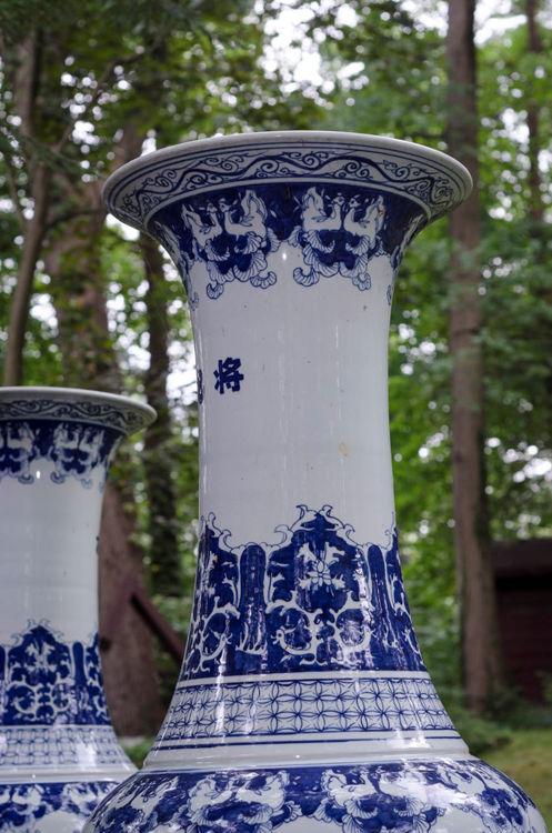 Picture of Massive Traditional Cobalt Vase
