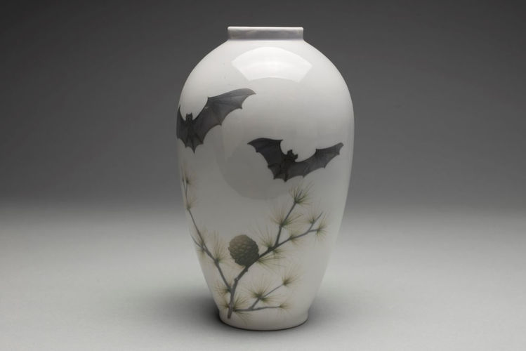 Picture of Porcelain Vase with Bats
