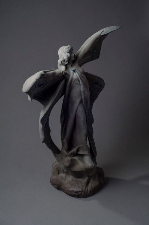 Picture of Continental Art Nouveau Ceramic Butterfly Statue