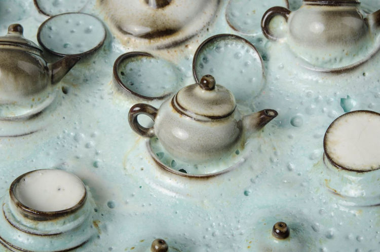 Picture of Green Teapot Platter