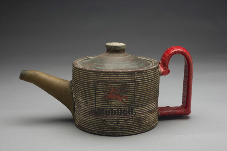 Picture of Teapot with Red Handle