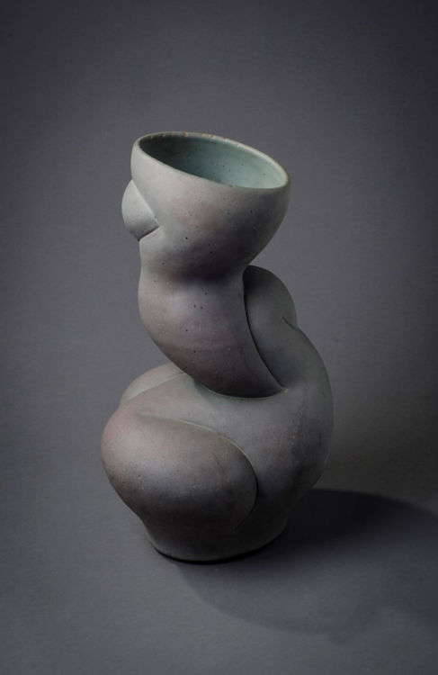 Picture of Abstract Vase in Verdigris