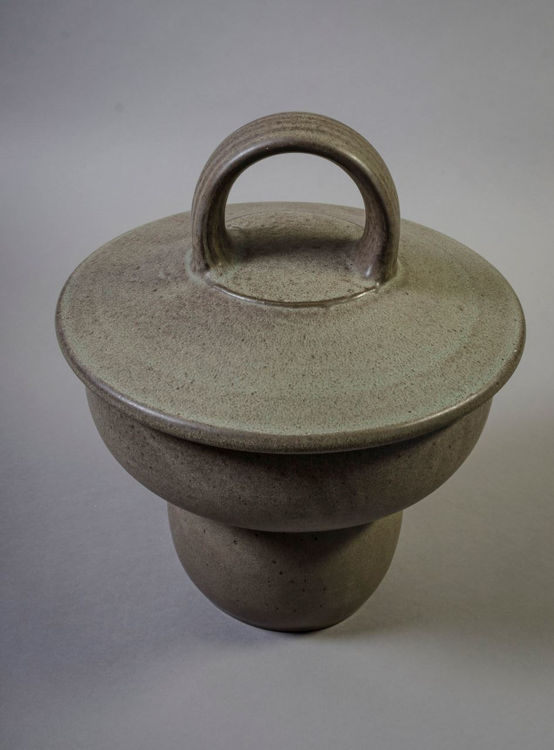 Picture of Footed Ceramic Jar
