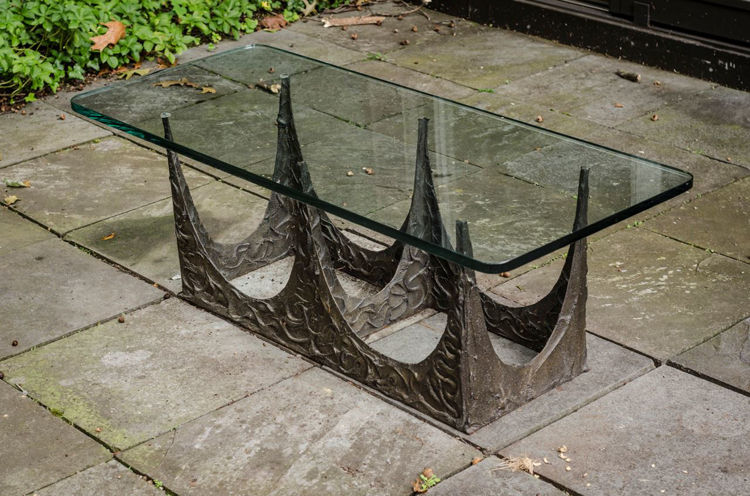 Picture of Bronze glass coffee table
