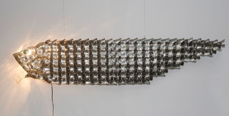 Picture of Metal Fish Lamp