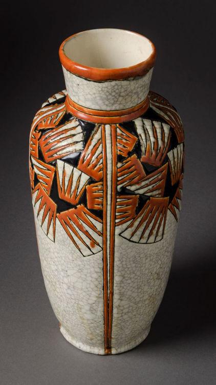 Picture of Belgium Enamel Glazed Vase