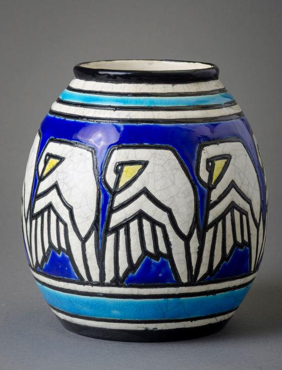 Picture of Bird Crackleware Vase